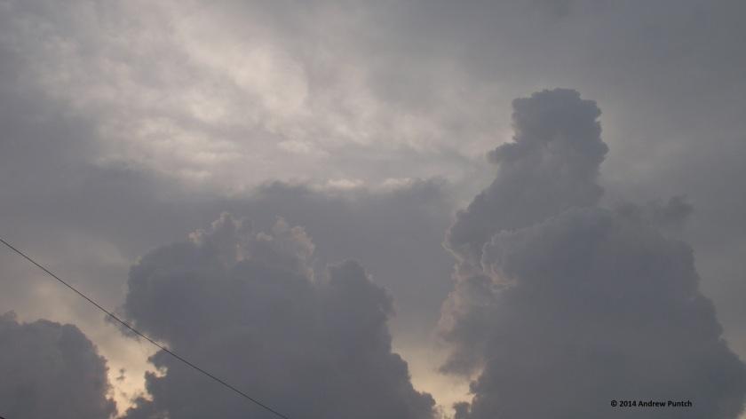 Towering cumulus, dawn
